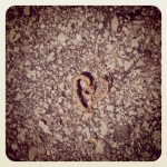 "The orginal ""heart on the pavement"""